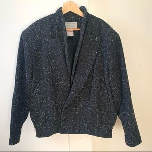 Vintage thick wool bomber size M